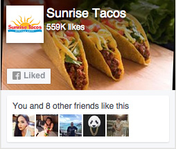 Sunrise Tacos Facebook